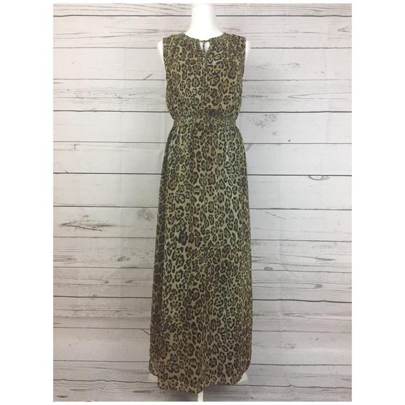 Jones New York Dresses & Skirts - Jones New York Leopard print Maxi Dress size 4